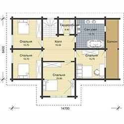 Проект загородного деревянного дома